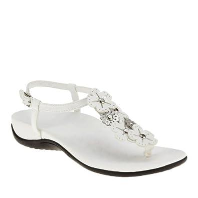 Orthaheel Womens Julie Slingback Sandal White Size 5