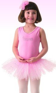 Posh Int'l Girls Pink Princess Tutu Leotard Dress Dance Costume