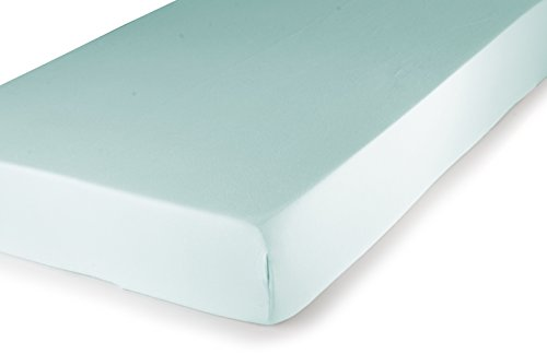 Carter's Easy Fit Jersey Portacrib Fitted Sheet, Aqua - 1