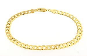 9ct Yellow Unisex Gold Curb Bracelet 20cm/8""