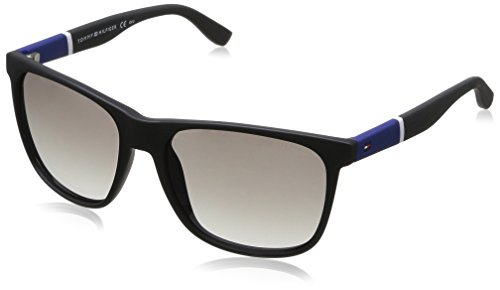 Tommy Hilfiger Thilfiger 1281/S 0FMA Matte Black IC gray mirror shaded silver lens Sunglasses