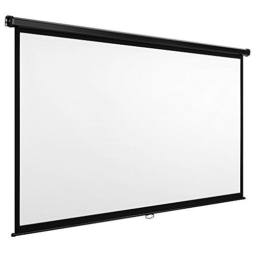vonhaus-90-inch-self-locking-manual-projector-screen-white
