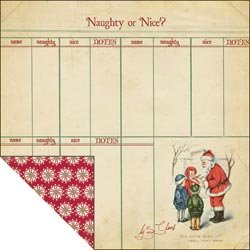 Fancy Pants Saint Nick Naughty or Nice - Scrapbookingpapier