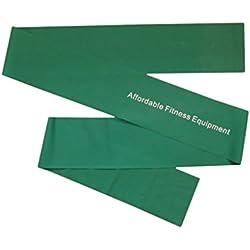 Bande elastiche di resistenza - extra lunghe di 2m. Allenati ovunque - A casa, in palestra o mentre sei in viaggio - Tonifica i muscoli - Perdi peso - Pilates - Yoga - Core Training - P90X - Follia (Verde)