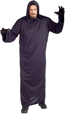 Black Robe Men's Costume Adult Halloween Outfit