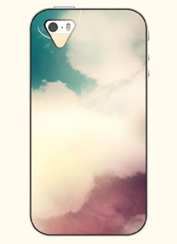 Oofit Phone Case Design With Blue Sky And White Cloud For Apple Iphone 5 5S 5G