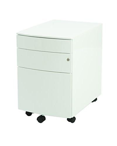 Euro Style Floyd Filing Cabinet, White