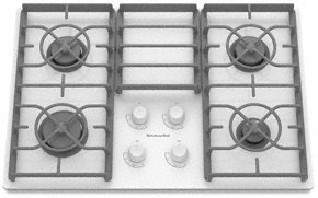 KitchenAid KGCC506RWW 30 Gas Cooktop - White