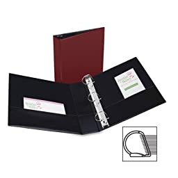 Avery® Durable EZ-Turn Ring Reference Binder, 8-1/2 x 11, 2in Cap, Burgundy