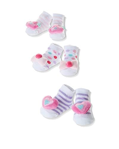 Pitter Patter Baby Gifts Pack x 3 Calcetines In A Box