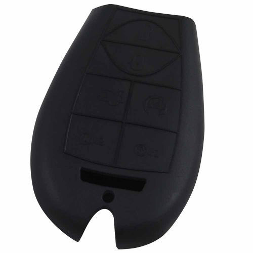 KeyGuardz Black Rubber Keyless Entry Remote Key Fob Skin Cover Protector (2010 Dodge Journey Fob compare prices)