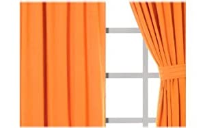 Best Seller Simplicity Rules Alegro Curtains For Decorative Rooms Orange from Kitty4U