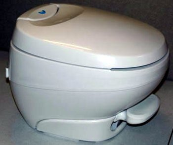 Bravura RV Toilet Low Profile - White