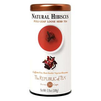 The Republic Of Tea Natural Hibiscus Full-Leaf, 3.5 Ounces/50 Cups