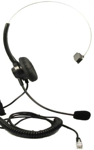 Call Center Headset Headphones + Adjustable Volume + Mute Control For Mitel Phone Superset 4000 Series, Mitel 5000 Ip Series, Mitel 5200 502Xi Ip Series, Mitel 5220 5230 Series Ip Telephone.