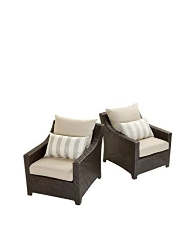 RST Brands Deco Set of 2 Club Chairs, Grey