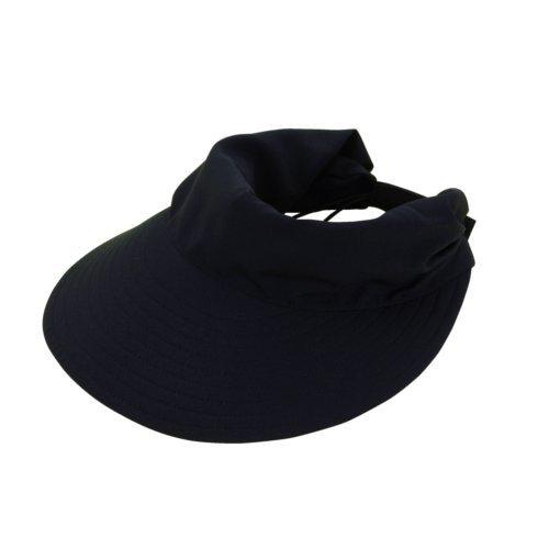 SHF UVナチュラルケア サンバイザー ブラック