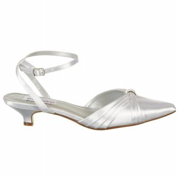 Dyeables Women's Willow Ankle-Strap Sandal,White Satin,9.5 B US