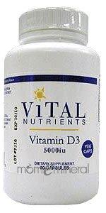 Vitamin D3 5000 IU 90 Vegetarian Capsules by Vital Nutrients