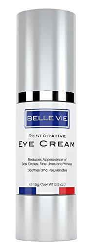 Belle Vie Restorative Eye Cream | Luxury Eye Cream | Advanced Vitamin K + Arnica Formula for Reducing Dark Circles, Puffiness, Fine Lines & Wrinkles