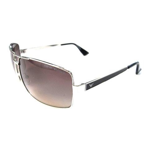 Emporio Armani Men's 9692 Light Gold / Black Frame/Brown Gradient Lens Metal Sunglasses