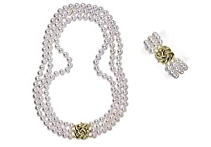 9.5x10mm AAA Quality Japanese Akoya saltwater cultured pearl necklace 51