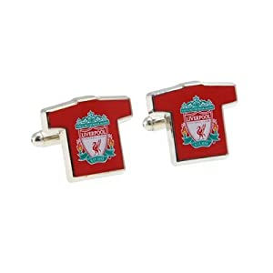 Official Liverpool FC Shirt Cufflinks - A Great Gift / Present For Men, Boys, Sons, Husbands, Dads, Boyfriends For Christmas, Birthdays, Fathers Day, Valentines Day, Anniversaries Or Just As A Treat For Any Avid Football Fan