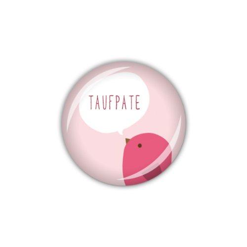 "lijelove Buttons, 04-01GF, ""Vögelchen"" Taufpate, pink, pink, 25 mm"