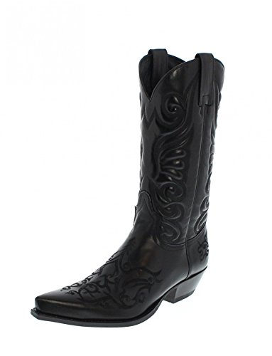 Sendra Boots 6056, Stivali western unisex adulto, Nero (Negro), 40