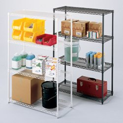 RELIUS SOLUTIONS Decorator Wire Shelving Components - White