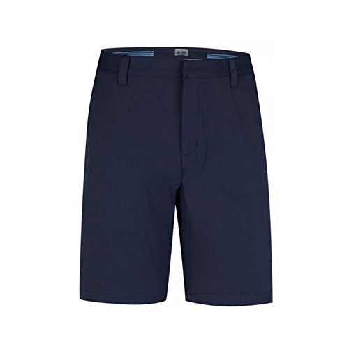 adidas Golf Men's Climalite 3-Stripes Shorts, Navy, 34