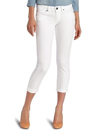 Calvin Klein Jeans Women's Ankle Crop, White, 12