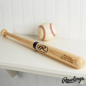 Personalized Wooden Baseball Bat - Engraved Mini front-1027133