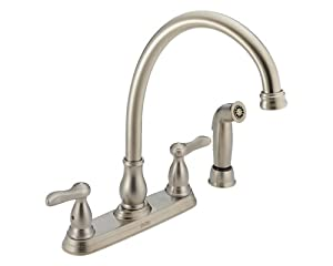 Delta 2457 ss orleans two handle kitchen faucet with for Kitchen faucet recommendations