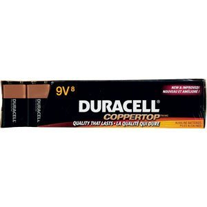 Duracell Plus 9V Alkaline Batteries 8 Pack