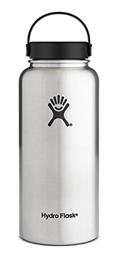 Hydro Flask 32 oz Vacuum Insulated Stainless Steel Water Bottle, Wide Mouth w/Flex Cap, Stainless (32oz Water Jug compare prices)