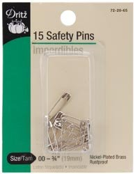 Dritz Safety Pins Size 00 14/Pkg 72-65-00; 6 Items/Order