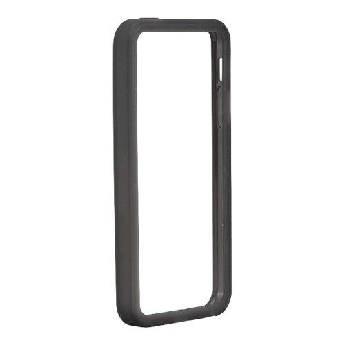 iBUFFALO iPhone 5S/iPhone 5 ソフトバンパー 液晶保護フィルム付 ブラック BSIP13PCTBBK