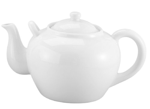 Harold Imports 75-Ounce Capacity Teapot, White