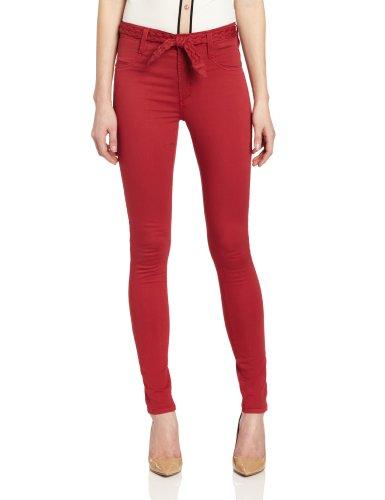 James Jeans Women's High Class Skinny, Ferrari Red, 30