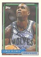 Lance Blanks Minnesota Timberwolves 1992 Topps Autographed Hand Signed Trading Card. by Hall+of+Fame+Memorabilia