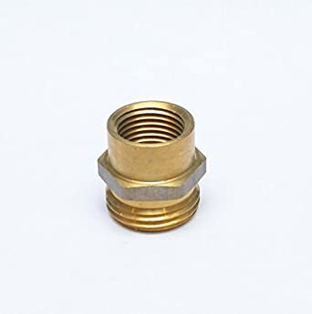 Fasparts 1 2 female npt fpt fip to 3 4 male ght garden hose thread adapter brass fitting fuel for Male to male garden hose adapter