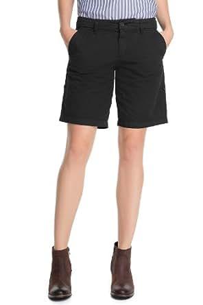 ESPRIT Short Femme - Noir - Schwarz (001 black) - FR : 40 (Taille Fabricant : 38)