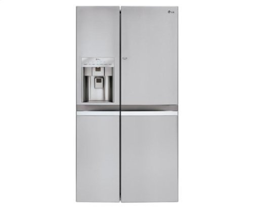 LG LSC22991ST Counter Depth Side-by-Side Refrigerator, 21.6 Cubic Feet, Stainless Steel