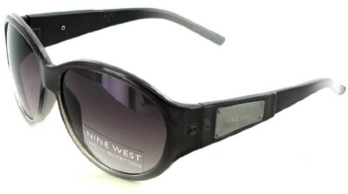 Women's Nine West Dk Burgundy Sunglasses Metal Logo UV