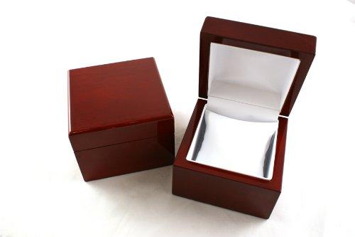 1 x Premium Glossy Rosewood Veneer Wooden Watch/Bangle Pillow Box(BDWW8 RW)