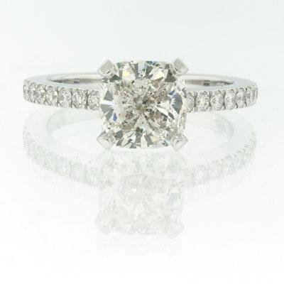 2.40ct Cushion Cut Diamond Engagement Anniversary