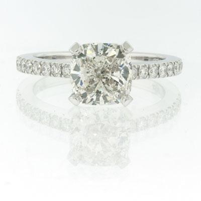 2.40ct Cushion Cut Diamond Engagement Anniversary