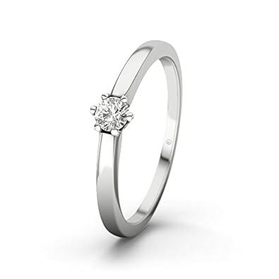 21DIAMONDS Women's Ring Seoul SI20.15CT Brilliant Cut Diamond Engagement Ring-Silver Engagement Ring