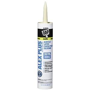 Dap 18135 ALEX PLUS Acrylic Latex Caulk Plus Silicone - Almond 10.1-oz